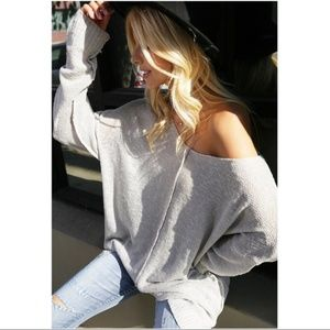 RESTOCKED! Gray Soft Slouchy Sweater Tunic